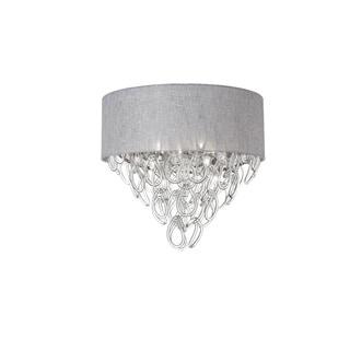 Dainolite 4-light Glass Loop Polished Chrome Flush Mount in Grey Shade