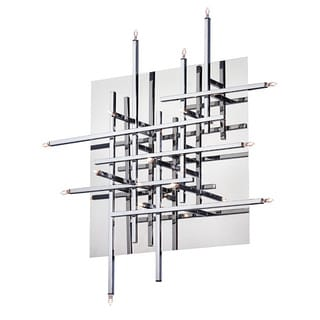 Dainolite 16-light Flush Mount Fixture in Polished Chrome in Low Voltage