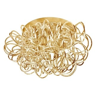 Dainolite 4-light Tubular Flush Mount Fixture in Gold Finish
