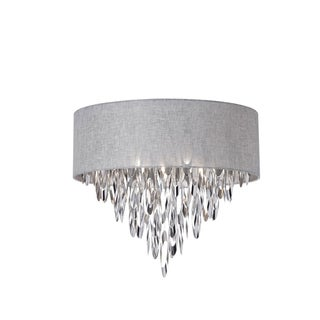 Dainolite 4-light Flush Mount Fixture with Grey Shade