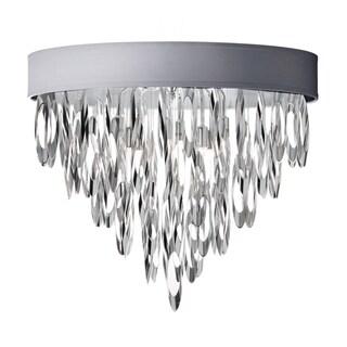 Dainolite 4-light Flush Mount Chandelier Polished Chrome Finish with Silver Shade
