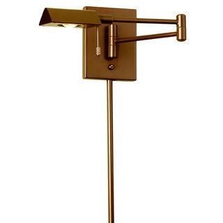 Dainolite LED Swing Arm Wall Lamp with Cord Cover in Vintage Bronze Finish