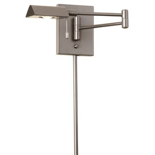 Dainolite LED Swing Arm Wall Lamp with Cord Cover in Satin Chrome Finish
