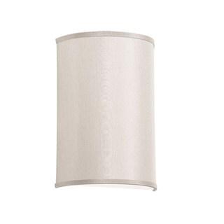 Dainolite 1-light Wall Sconce It Linen CRM w/790 Diff