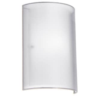 Dainolite 1-light Wall Sconce in Outside Shade White Laminated Organza in Inside Shade White Frosted Glass