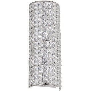 Dainolite 3-light Crystal Wall Sconce in Polished Chrome Finish