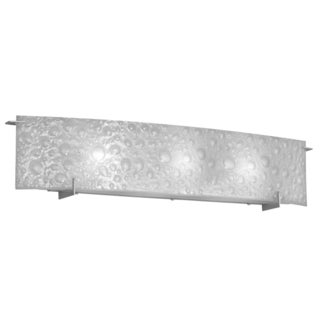 Dainolite 3-light Vanity Fixture with Frosted Bubble Glass