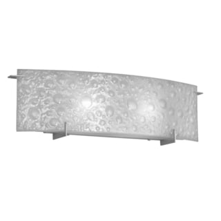 Dainolite 2-light Vanity Fixture with Frosted Bubble Glass