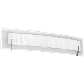 Dainolite 4-light Vanity Fixture with Satin Chrome Finish with Frosted Glass & Linen Glass