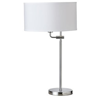 Dainolite Adjustable Table Lamp with White Shade