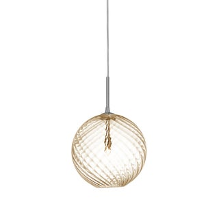 Dainolite 1-light Small Pendant with Amber Glass