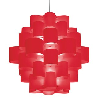 Dainolite 9-light Zulu Pendant Red
