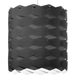 Dainolite 1-light Cross Hatch Pendant with Black Shade