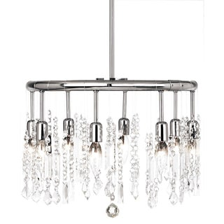 Dainolite 8-light Crystal Polished Chrome Chandelier in