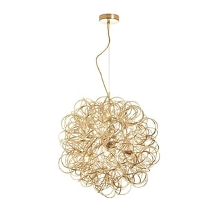Dainolite 6-light Tubular Pendant in Gold Finish