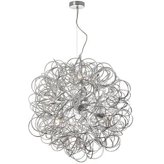Dainolite 8-light Tubular Pendant in Polished Chrome Finish