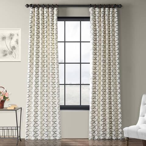 Exclusive Fabrics Illusions Printed Cotton Curtain Panel