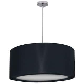 Dainolite pendant lighting for less overstock dainolite 4 light polished chrome pendant with black lycra shade with diffuser mozeypictures Images