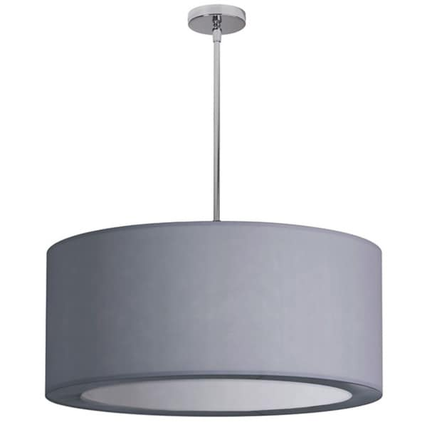 Dainolite 4-light Polished Chrome Pendant with Silver Lycra Shade with Diffuser