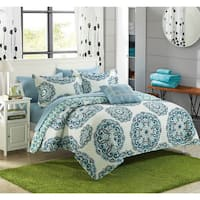 Chic Home Miranda Medallion Reversible 4-piece Quilt Set
