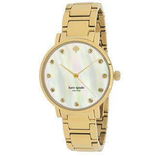 Kate Spade Women's 1YRU0007 Gramercy Round Gold-Plated Stainless Steel Bracelet Watch