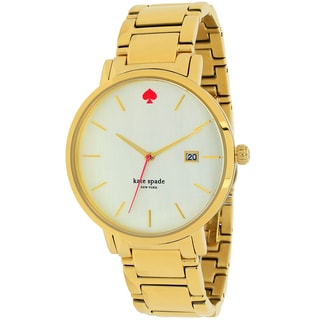Kate Spade Women's 1YRU0009 Gramercy Grand Round Goldtone Stainless Steel Bracelet Watch