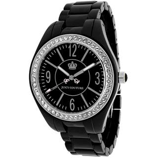 Juicy Couture Women's 1900643 Lively Round Black Ceramic Bracelet Watch|https://ak1.ostkcdn.com/images/products/10387778/P17491790.jpg?impolicy=medium