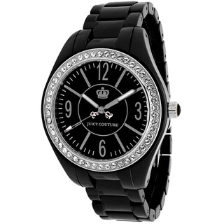 Juicy Couture Women's 1900643 Lively Round Black Ceramic Bracelet Watch
