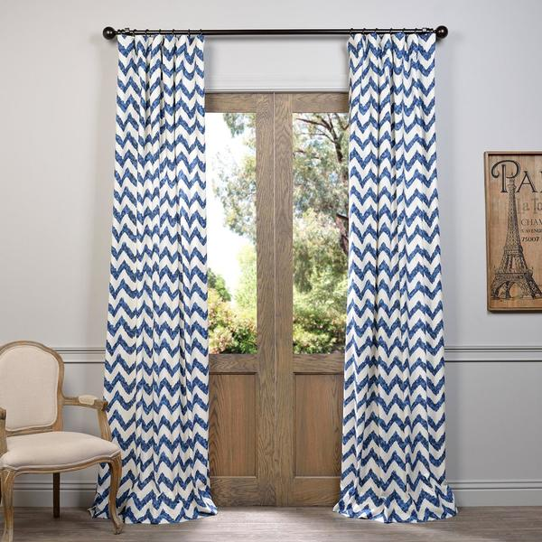 Exclusive Fabrics Calipso Printed Cotton Curtain. Opens flyout.