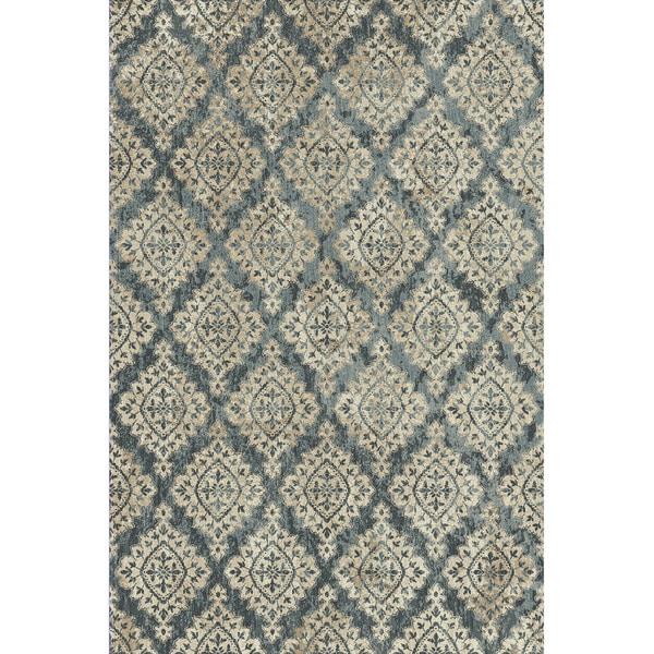 Cappella Floral Diamonds Blue Area Rugs (5.3' x 7.7')