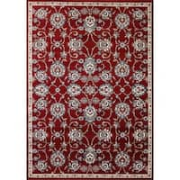 Cappella Traditional Medallion Red Area Rug - 5'3 x 7'7
