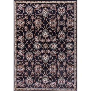 Cappella Traditional Medallion Anthracite Area Rug (5'3 x 7'7)