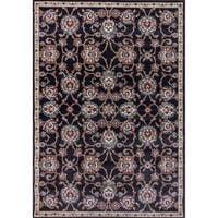 Cappella Traditional Medallion Anthracite Area Rug - multi - 5'3 x 7'7