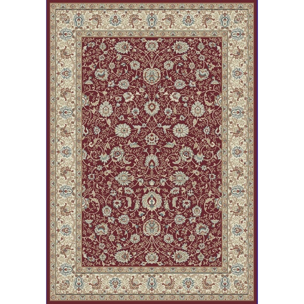 Cappella Traditional Floral Red Area Rug (5'3 x 7'7)