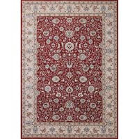 Cappella Traditional Floral Red Area Rug - 5'3 x 7'7