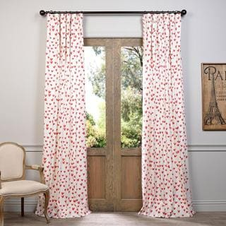 Exclusive Fabrics Sweethearts Printed Cotton Curtain