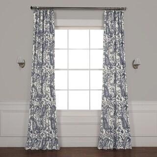Exclusive Fabrics Edina Printed Cotton Single Curtain Panel
