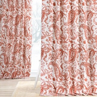 Exclusive Fabrics Edina Printed Cotton Single Curtain Panel