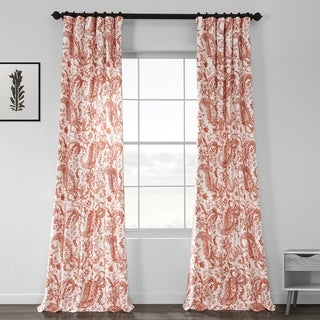 Exclusive Fabrics Edina Printed Cotton Curtain Panel