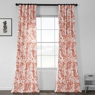 Exclusive Fabrics Edina Printed Cotton Curtain Panel