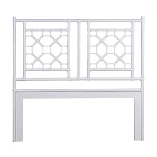 Montezuma White Solid Rustic Lattice Queen Headboard