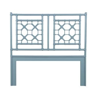 Lakewood White Solid Rustic Lattice Queen Headboard