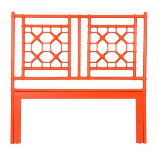 East At Main's Meeker Orange Modern Lattice Queen Headboard