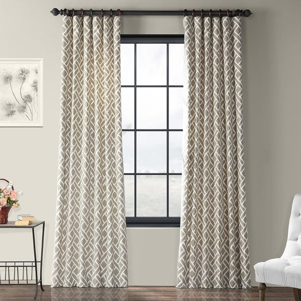 Exclusive Fabrics Martinique Geometric Pattern Cotton Curtain Panel (Single)