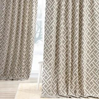 Exclusive Fabrics Martinique Geometric Pattern Cotton Curtain Panel (Single)