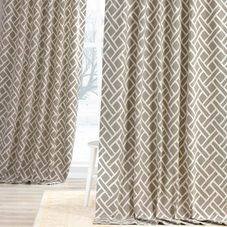 Exclusive Fabrics Martinique Printed Cotton Curtain Panel