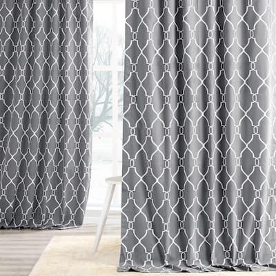 Exclusive Fabrics Aiden Printed Cotton Curtain Panel