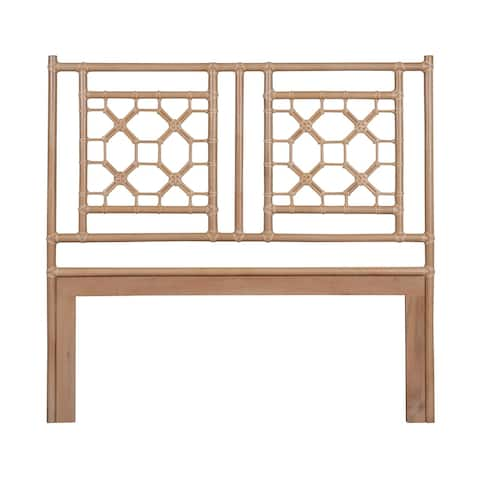 East At Main's Grover Natural Modern Lattice Queen Headboard