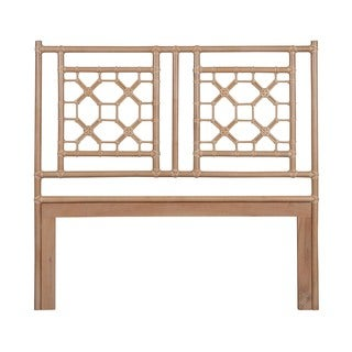 Grover Natural Modern Lattice Queen Headboard
