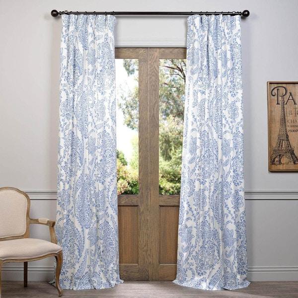 Exclusive Fabrics Paisley Printed Cotton Curtain Panel